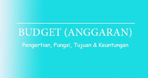 Pengertian budget