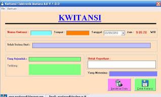 Contoh kwitansi di suatu sistem informasi penjualan