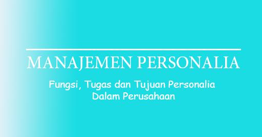 tugas personalia
