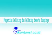 Delisting dan Relisting