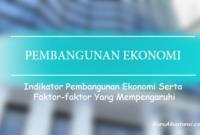 Indikator Pembangunan Ekonomi