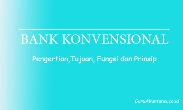 Pengertian bank konvensional