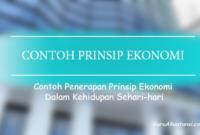 contoh prinsip ekonomi