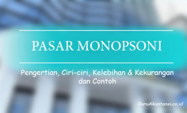 pengertian pasar monopsoni