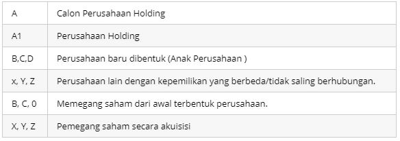 proses pembentukan holding company