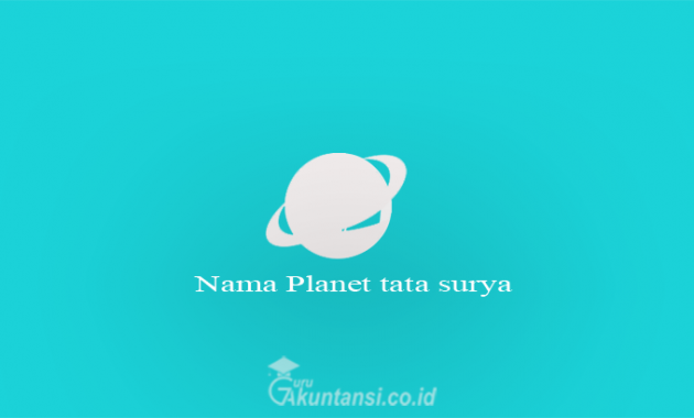 Nama Planet tata surya