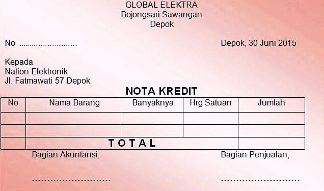 Contoh Nota Pembayaran Pengertian Komponen Beserta Fungsinya
