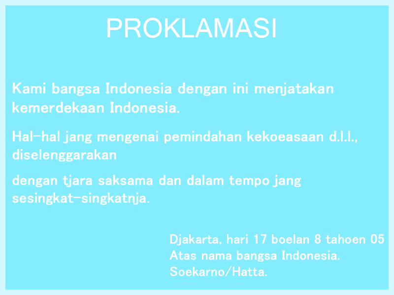 Isi-Proklamasi