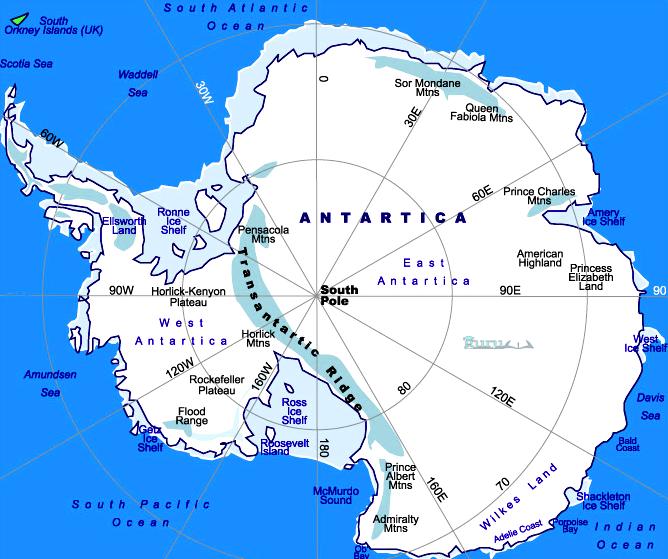 Peta-Benua-Antartika