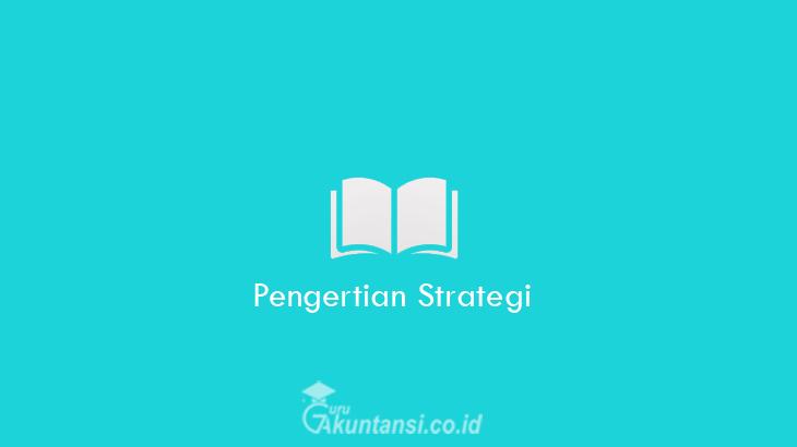 Pengertian-Strategi