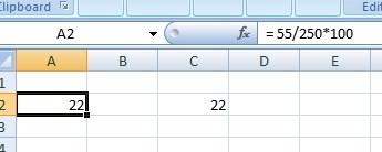 Rumus Persentase dengan Excel.1
