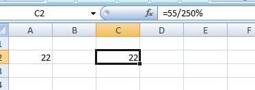 Rumus Persentase dengan Excel.2
