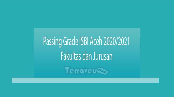 Passing Grade ISBI Aceh 2020-2021 Fakultas dan Jurusan
